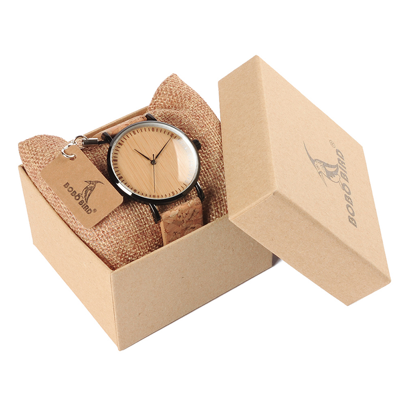 Zegarek drewniany Bobo Bird Cork E19 17