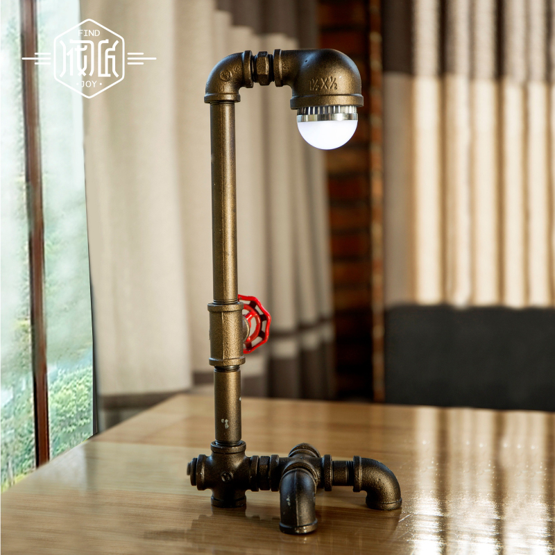 American LED Vintage Desk Table Lamp For Bedroom Living Room LED Beside Lamps Lampara Luminaira De mesa Abajur Para Quarto купить