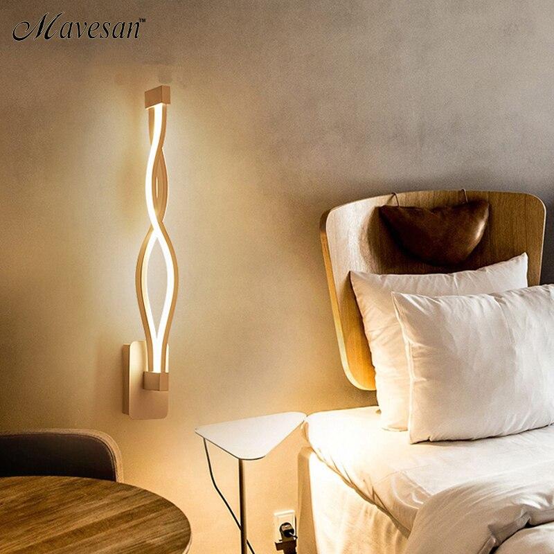 Image 4 - 16 Вт Светодиодная настенная лампа, современная спальня, рядом с чтением, настенный светильник для помещений, гостиной, коридора, отеля, комнаты, освещение, украшениеКомнатные настенные LED -лампы    АлиЭкспресс