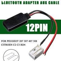 Ferramenta de instalação + cabo adaptador bluetooth 12pin  acessórios eletrônicos para peugeot 207 307 407 308