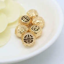 4PCS 10.5x11.5MM 24K Champagne Gold Color Plated Brass Lotus Spacer Beads Bracelet High Quality Diy Jewelry Accessories