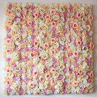 40X60cm Artificial Silk Rose Flower Wall Decoration Decorative Silk Hydrangea Wedding Decoration Backdrop Panels factory sale