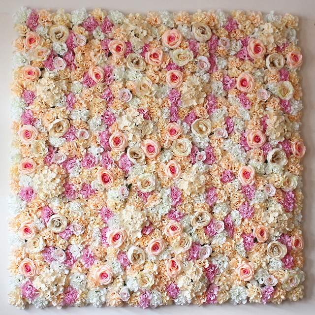 Eva Wall Flower Accent: 40X60cm Artificial Silk Rose Flower Wall Decoration