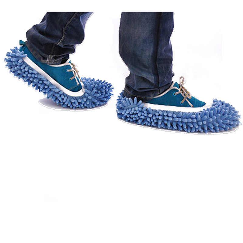 Indoor winter mannen vrouwen veeg slippers schoenen lui schoen mop caps set 352510 ##418
