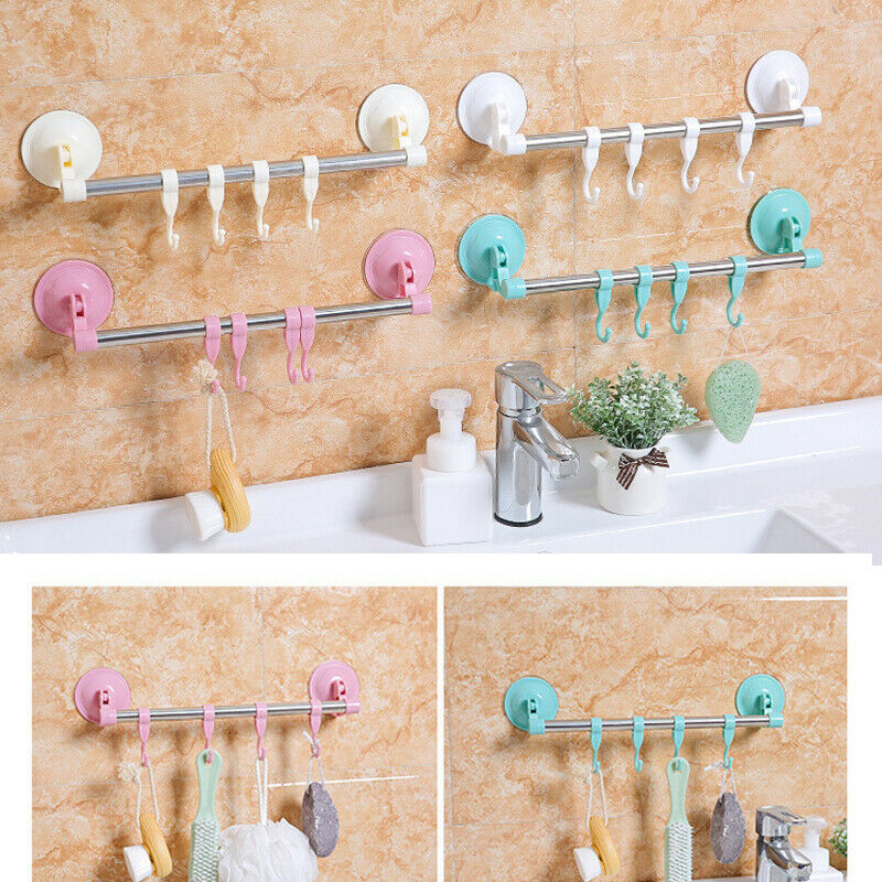 1PC Anti skid Hooks Reusable Transparent Strong Sticky Towel Hanging Wall Hooks in Hooks Rails from Home Garden