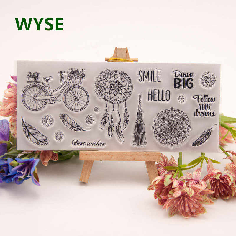 Clear stamps dream catcher rubber transparent Silicone stamp Scrapbooking for card making DIY decoration tool Happy New year