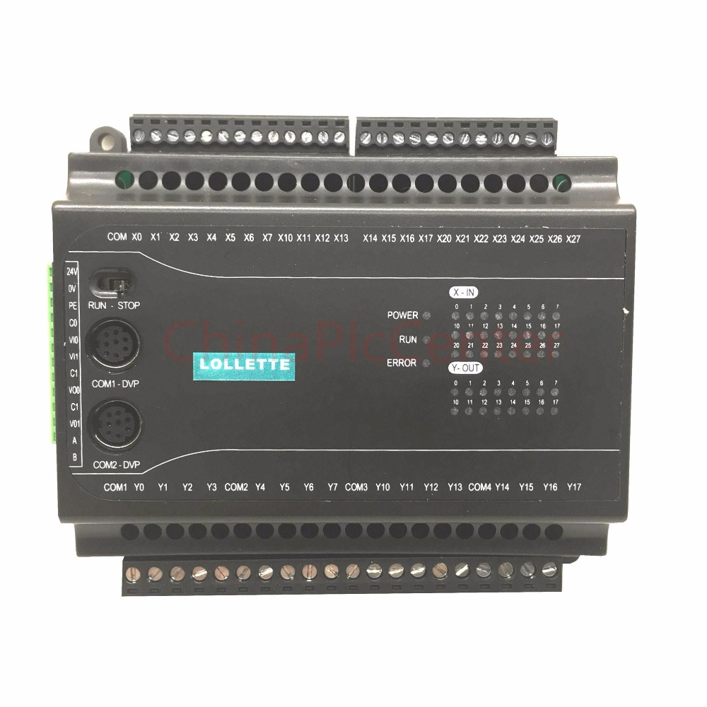 FX1N EX1N 40MT programmable logic controller 24 input 16 input 2AD 2DA 485 Modbus plc controller automation controls plc system fx1n fx2n fx3u 40mt 24di 16do 2ad 2da analog for plc rs485 modbus 4 axis high speed pulse 100khz output stepper motor