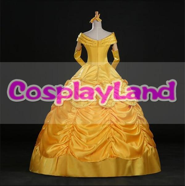 Skönhet och Beast Belle Dress Vuxenprinsessan Belle Cosplay Kostym - Maskeradkläder och utklädnad - Foto 3