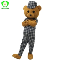 Adult Teddy Bear Mascot Costumes Carnival Party Halloween Cosplay Mascot Costume Fancy Dress Christmas Party Suit for Adult