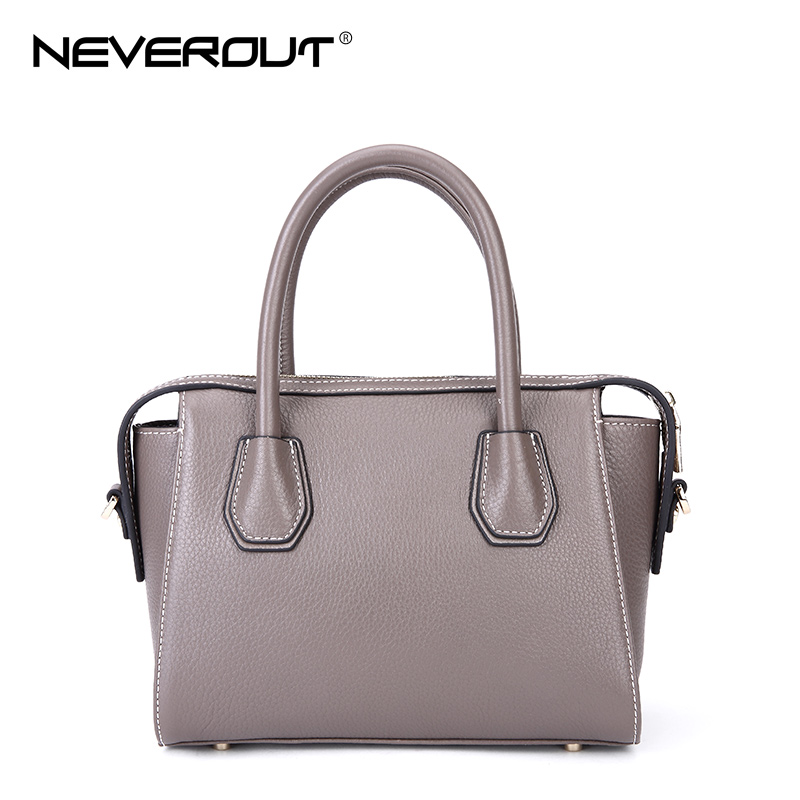 NEVEROUT Women Bag High Quality Genuine Leather Handbags Casual Tote Crossbody Bags Shoulder Totes Solid Fashion Small Handbag fashion handbag 2018 high quality pu leather women handbags brand casual shoulder bags female solid tote bag lady crossbody bag