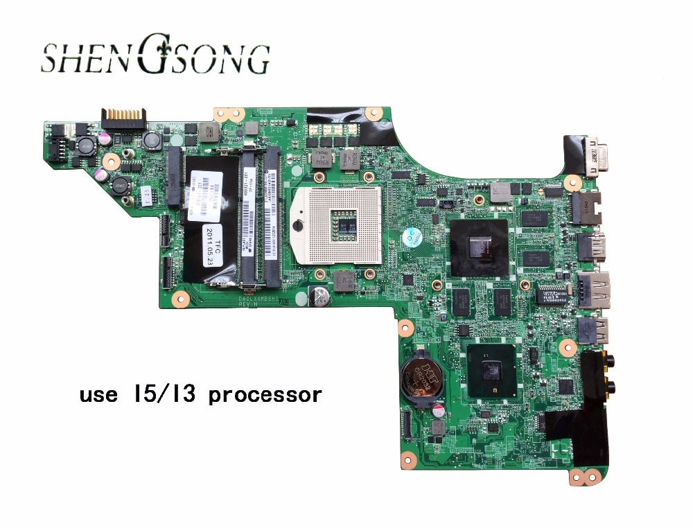 609787-001 Free Shipping laptop motherboard for hp pavilion DV7T DV7-4000 hm55 ATI ATI HD5470/512 ddr3 DA0LX6MB6F2 580974 001 for hp pavilion dv7 dv7t dv7 3000 laptop motherboard tested working