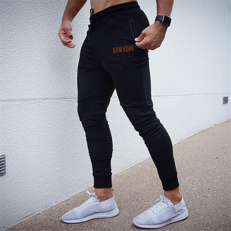2019 New Mens Cotton Sweatpants Joggers Autumn Winter Man Gyms Fitness Bodybuilding Workout Trousers Men Casual Pencil Pants