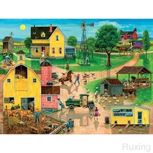 NEW 5d diy diamond embroidery Animated village people labor pictures cross stitch painting full Square mosaic rhinestone