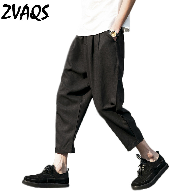 Harem Pants Trousers Wide Leg Ankle-Length Men Loose Plus-Size Summer Casual New 5XL