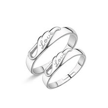 Eternity Wedding Bands For Couples Fashion Jewelry 925 Sterling Silver Lovers Promise Ring For Men Womens Couple Rings(China)