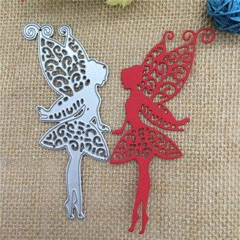 Elf Flower Fairy Girl Cutting Dies Stencil Scrapbooking Card Embossing Craft DIY