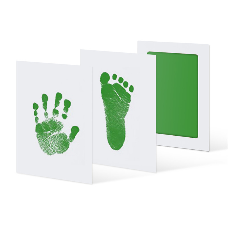 Safe Non-toxic Baby Footprints Handprint No Touch Skin Inkless Ink Pads Kits for 0-6 months Newborn Pet Prints Infant Souvenir