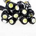 10 unids Alto Brillo DRL 18mm Ojos de Águila Luz Del Trabajo Del Coche LED de Circulación Diurna Luces de Fuente de Luz De Estacionamiento A Prueba de agua coche StylingCJ