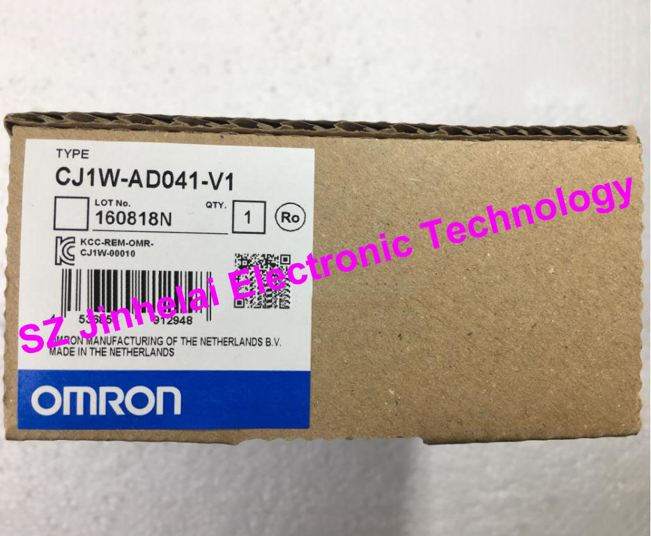 100% New and original CJ1W-AD041-V1 OMRON Analog input unit cj1w mad42 omron analog input output unit