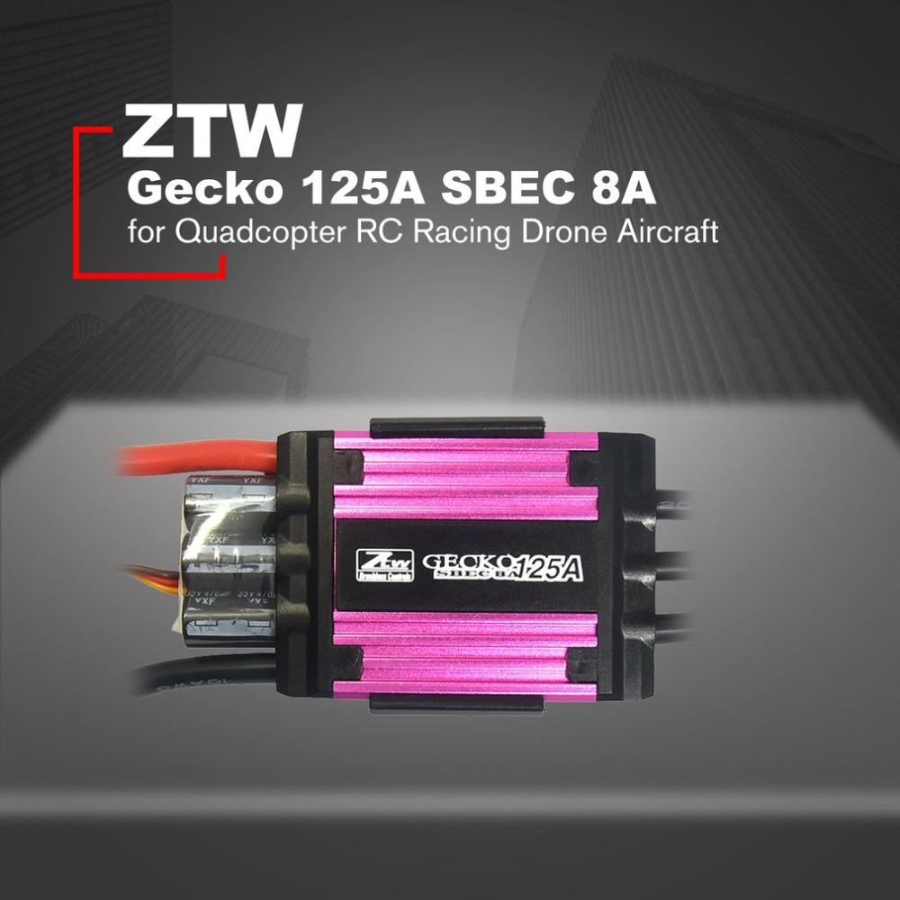 ZTW Gecko 125A Brushless ESC Electronic Speed Controller with 8A SBEC for Quadcopter RC Racing Drone Aircraft HOT!ZTW Gecko 125A Brushless ESC Electronic Speed Controller with 8A SBEC for Quadcopter RC Racing Drone Aircraft HOT!