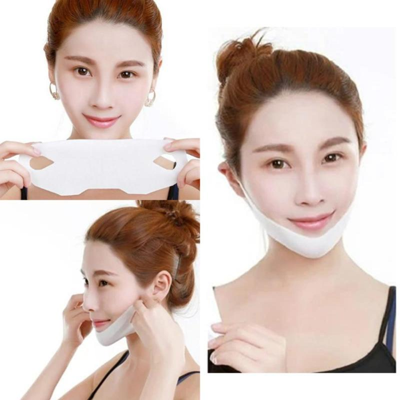1pcs 4D Double V-shaped Facial Mask Tension Firming Mask Face Slimming Lifting Thin Mask Beauty Face Care Tool