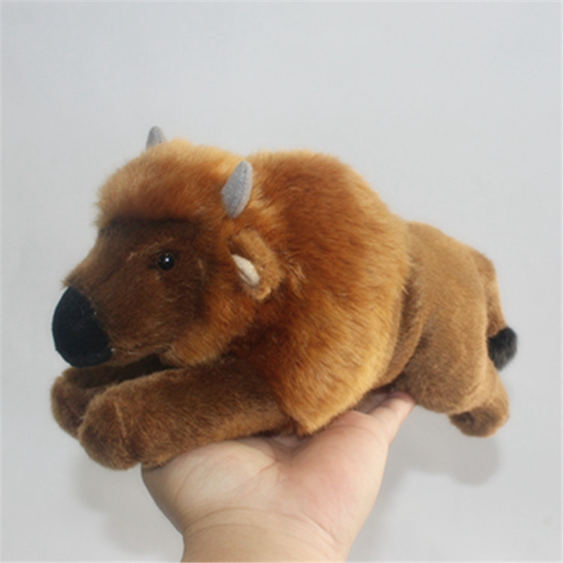 Realistic Amimal Buffalo Plush Doll Cute Mini Animals Yak Toys Doll