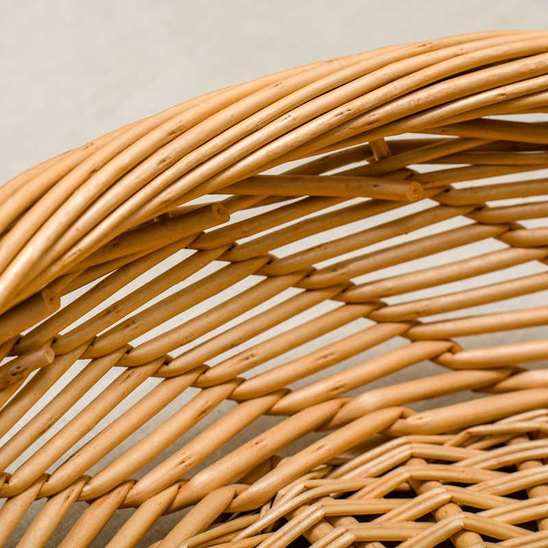 Rieten handgemaakte bamboe weven opslag mand fruitschaal groente opbergdoos waterdichte vochtbestendig organizer bowls lade