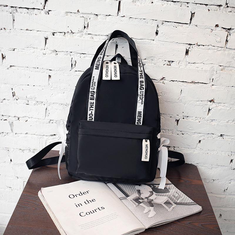 Menghuo Large Capacity Backpack Women Preppy School Bags For Teenagers Female Nylon Travel Bags Girls Bowknot Backpack Mochilas (50)