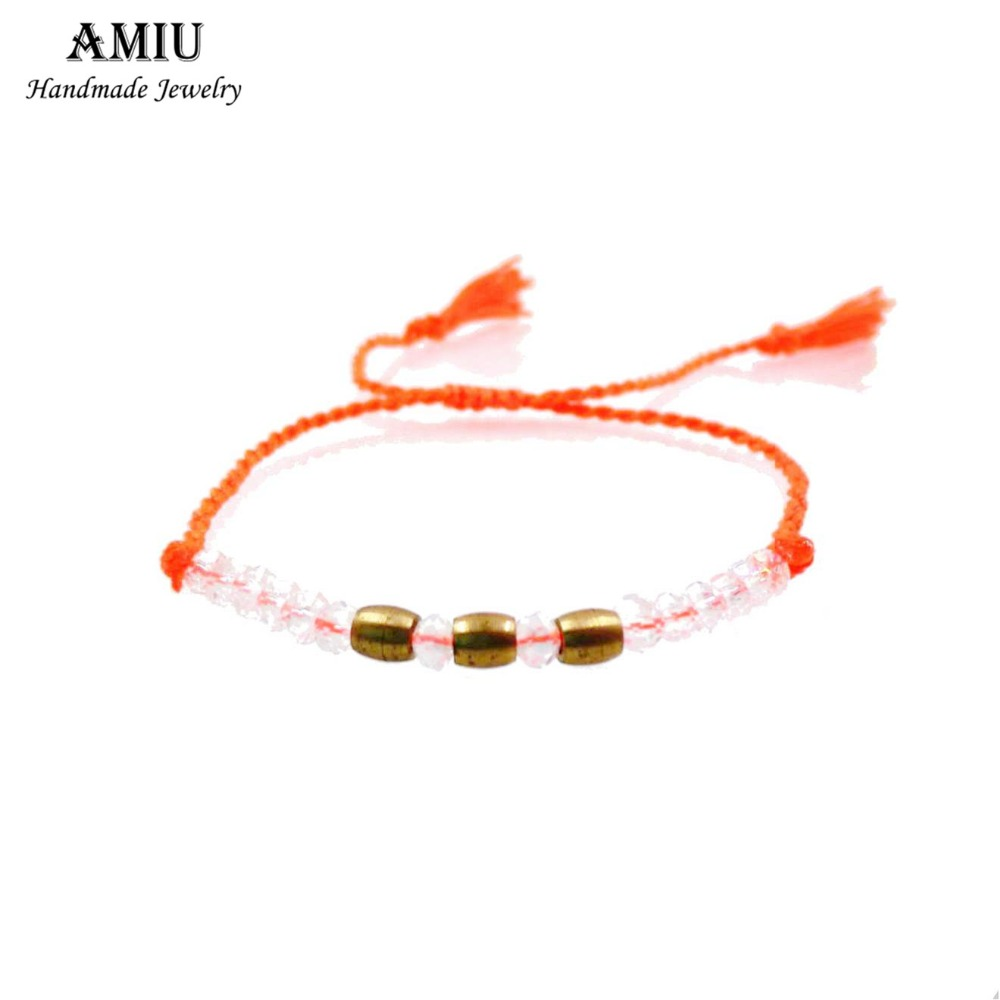 AMIU 1PCZ-K Ձեռագործ բարեկամության ձեռնաշղթա Hippy Colorful Conch Bead Charm Seed Beads Cross Love Crystal Bracelets For Women տղամարդկանց համար