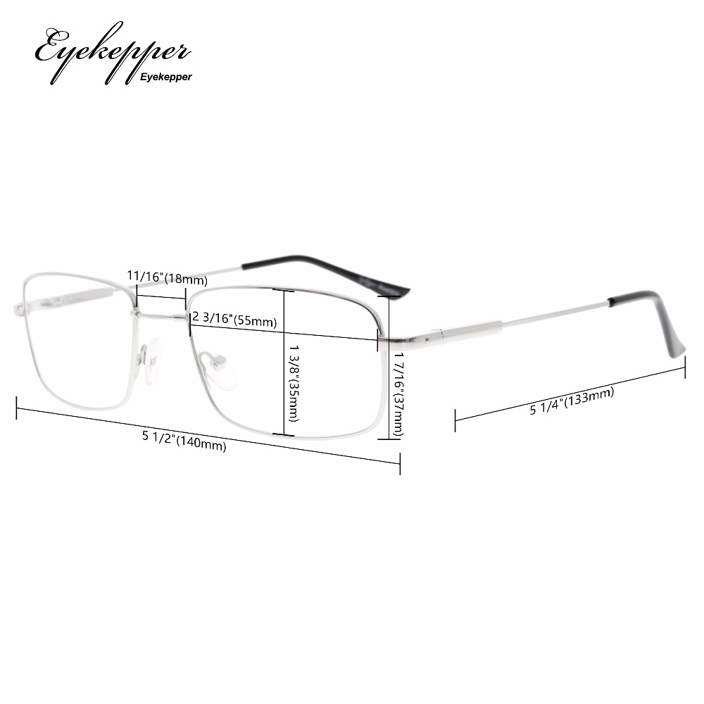 1b7b63ede8 CG1701 Eyekepper Reading Glasses Blue Light Blocking Reduced Eye Strain  Memory Computer Glasses Titanium Readers +0.00~+3.00-in Reading Glasses  from Apparel ...