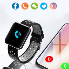 Smart Watch Color Screen IP68 Waterproof Heart Rate Blood Pressure Monitor Replaceable Bracelet For Android IOS smart fitness bracelet men color screen ip68 waterproof blood pressure heart rate monitor wristband for android ios pk id107