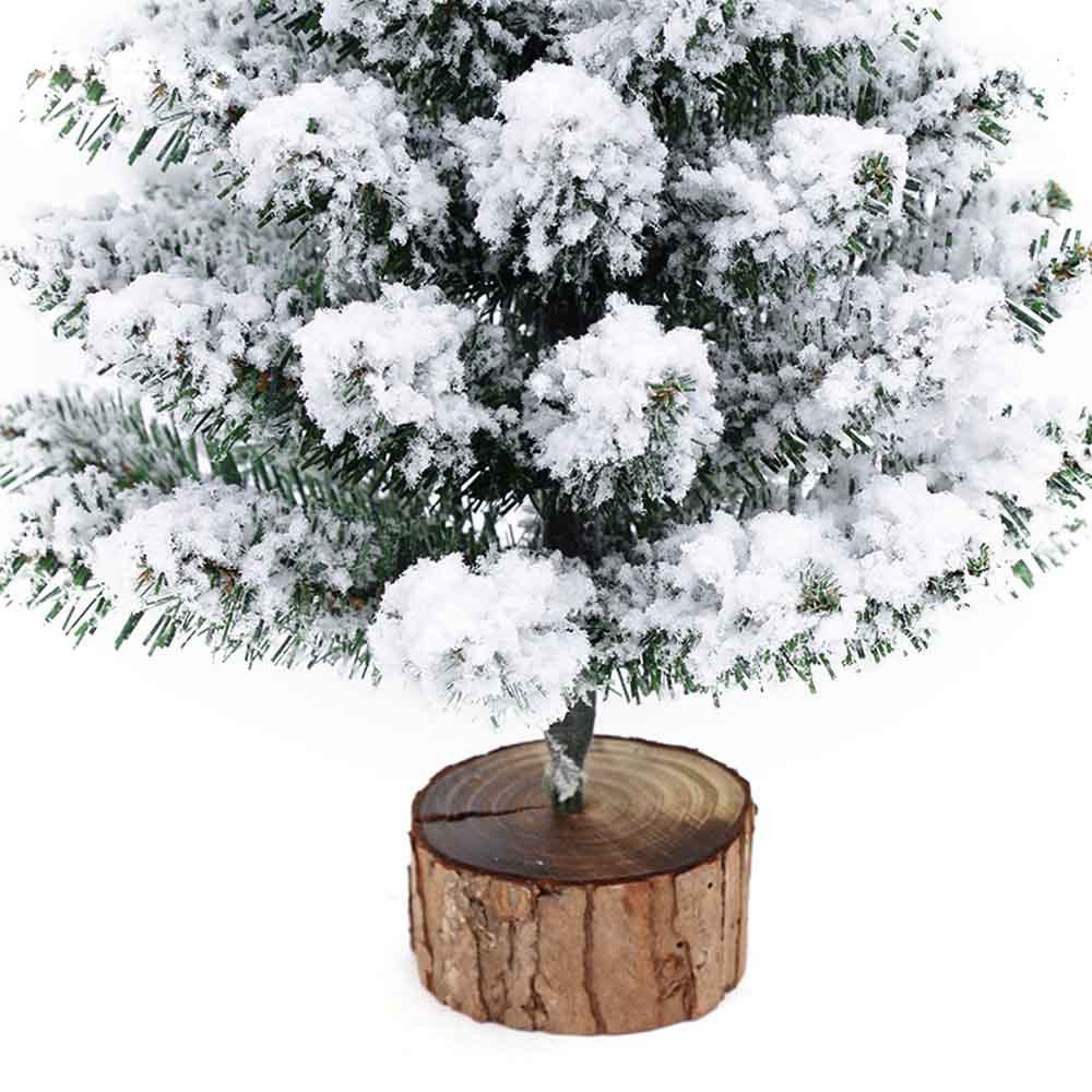Мини Рождественская елка, искусственное стекающееся снежное Рождественское дерево, светодиодный, многоцветные огни, праздничное украшение, arbol de navidad