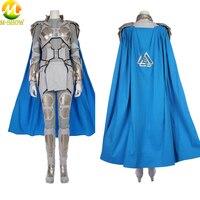 Movie Thor Ragnarok Valkyrie Cosplay Costume Adult Women Superhero Cosplay Full Set Outfit For Halloween Custom Made