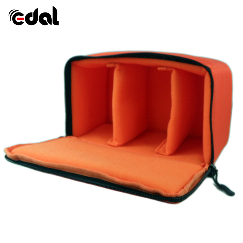 Consumer Electronics Capable Edal Water-resistant Dslr Padded Insert Case Bag Waterproof Zipper Removable Partition Camera Bags