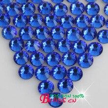 DMC HotFix FlatBack Rhinestones sapphire strass DIY iron heat glass Hot Fix crystal stone ss6 ss10 ss16 ss20 ss30