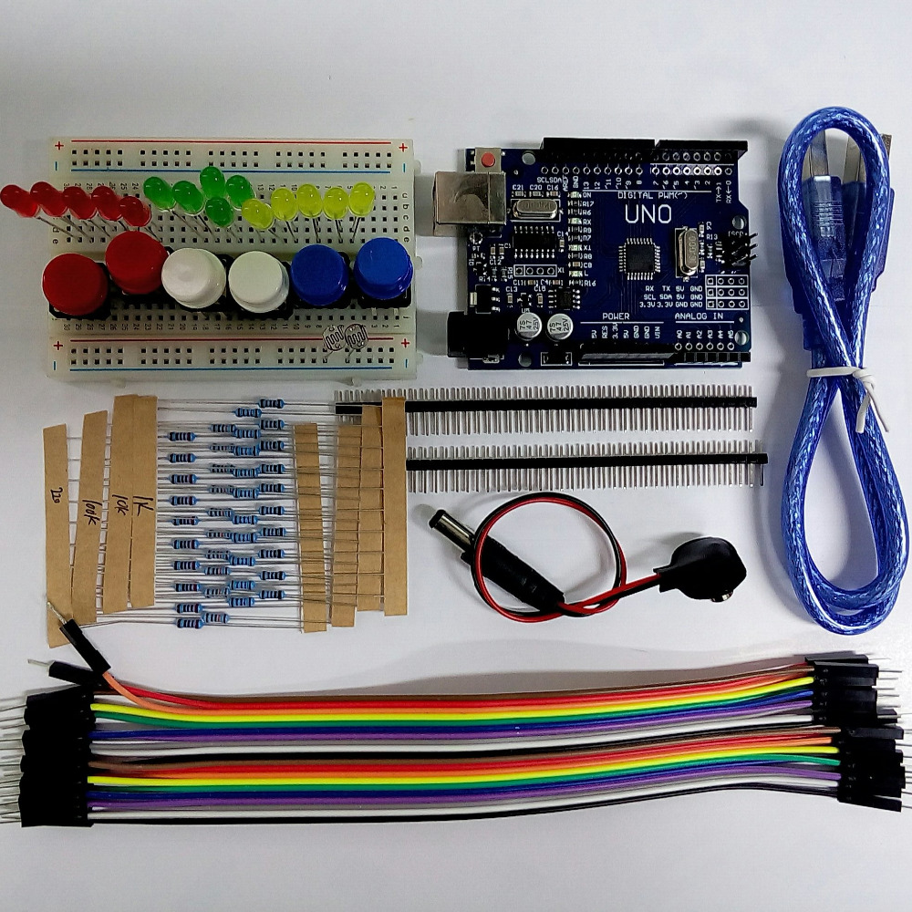 UNO R3 Starter Kit MINI Breadboard LED Jumper Wire button