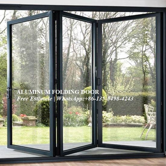 Double/Triple Glazing Tempered Glass Door,Aluminum Alloy Sheet Patio Door,Folding Door