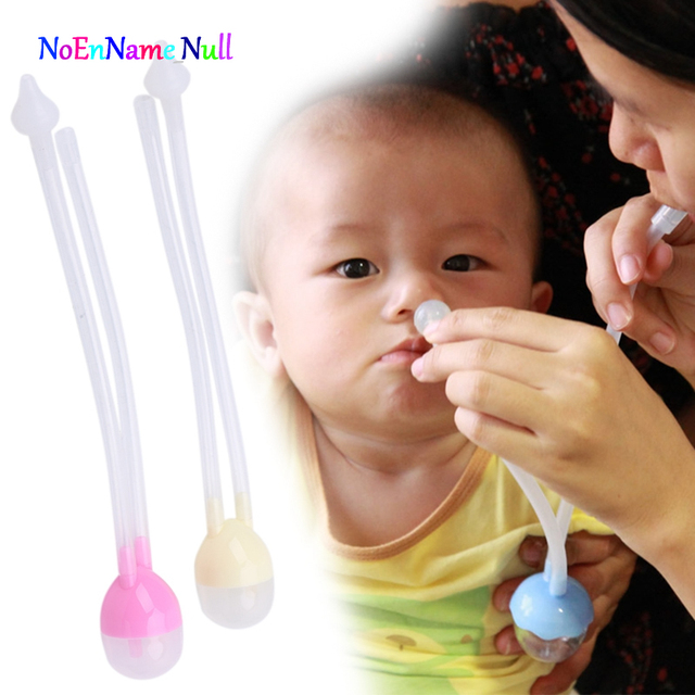 2017 Newborn Baby Safety Nose Cleaner Vacuum Suction Nasal Aspirator Flu Protections APR8_30