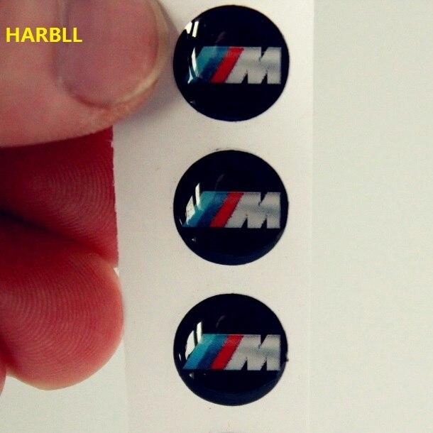 HARBLL For BMW M Power 3 PCS 11mm Car Logo Auto Key Fob Emblem Key Shell