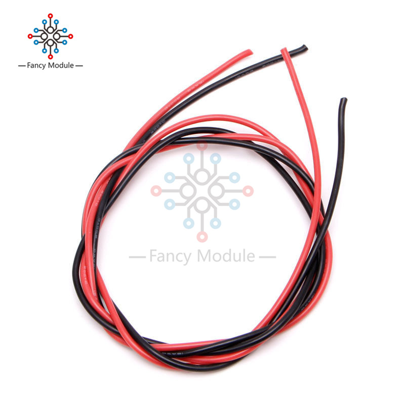 Red Black <font><b>16</b></font> <font><b>AWG</b></font> Gauge Wire Flexible Silicone Stranded Copper Cables For RC image
