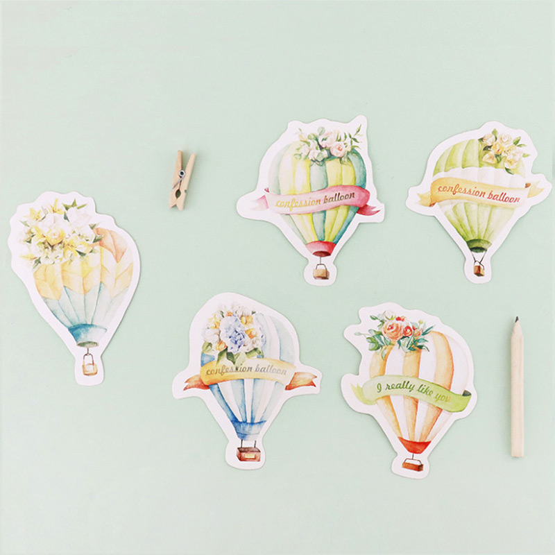 30 pcs/lot Love balloon postcard novelty heteromorphism greeting card christmas card birthday message card gift thanks cards