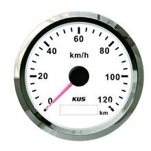 85 мм GPS Спидометр GPS Speedo 0-120 км/ч с ответным антенны белый Лицевая панель для автомобиля универсальный мотоцикл