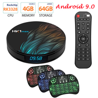 Android 9.0 HK1 MAX Mini Smart TV Box 2.4G/5G Wifi RK3328 Quad Core BT 4.0 Set Top Box Media Player 4G 32G 64G PK TX6 T9 X96 MAX