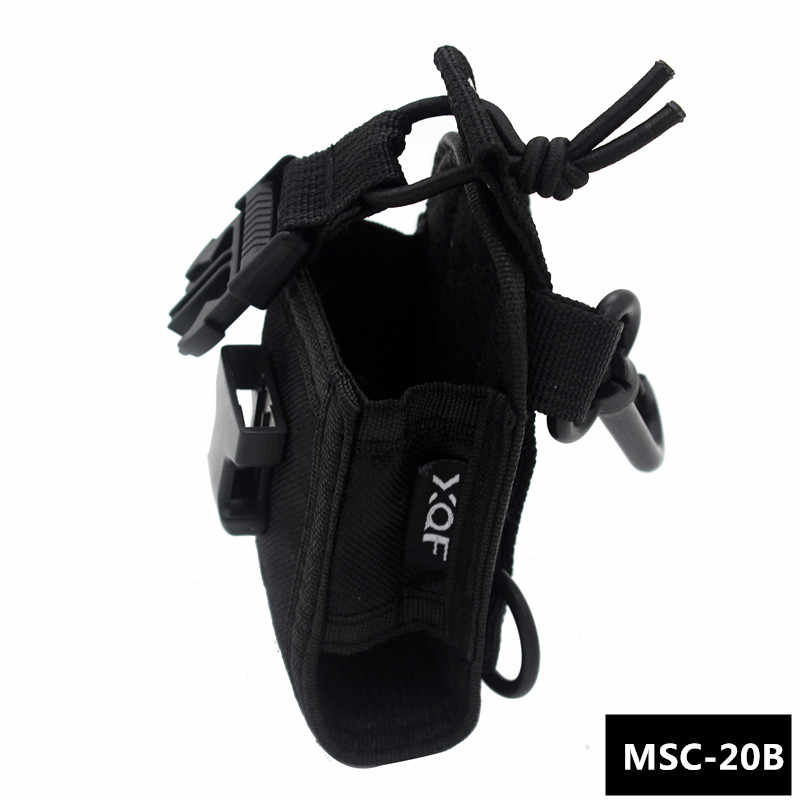 XQF MSC-20B Portable Radio Case Holder Holster for Kenwood Icom Motorola BaoFeng UV-5R UV-82 B5 UV-5RE Plus GT-3 Walkie Talkie