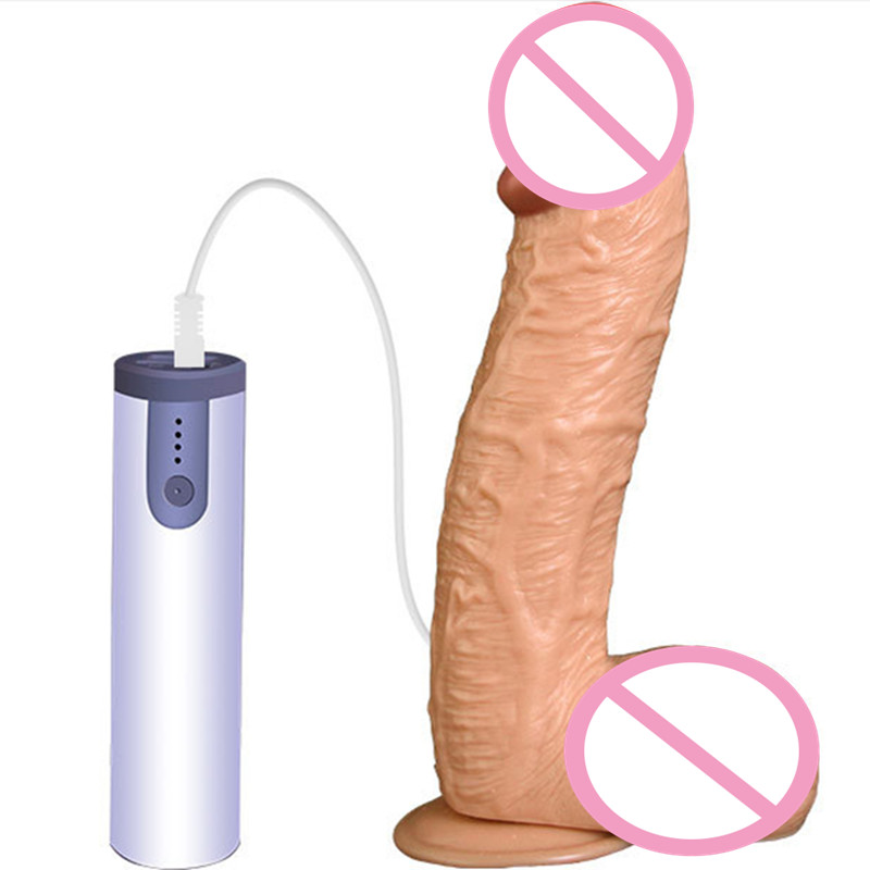 Huge Dildos Realistic Penis with Suction Cup Dildos 12 Frequency Vibration Rechargeable Rotating Masturbation for Women