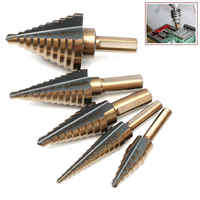 2017 5pcs Industrial Countersink Drill Bit Set Mayitr HSS Large Cobalt Hole Titanium Cone Step Drill