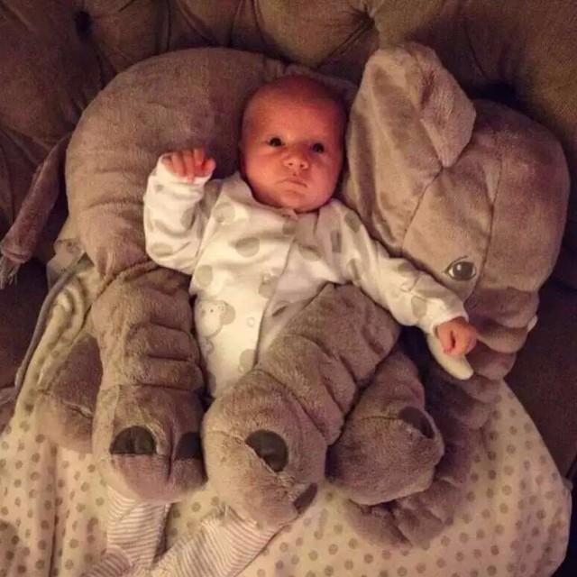 50 pcs INS elefante travesseiro crianças travesseiro sono do bebê presente de aniversário Almofada Lombar Longo Do Nariz Do Elefante de Pelúcia travesseiro