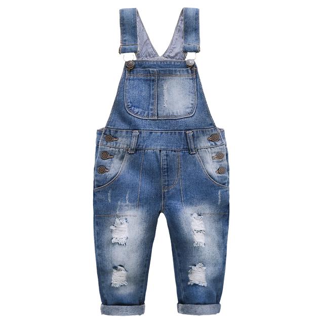 Crianças Calça Jeans suspender calças jeans primavera/outono moda bebê menina macacão Roupas Crianças Cowboy suspender calças das Crianças