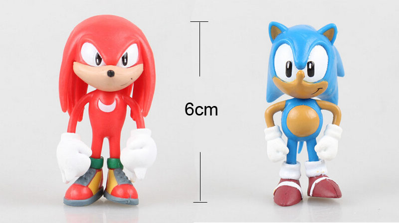 US $8 09 10% OFF 6pcs High Quality X SEGA Sonic the Hedgehog Collection  Action Figure Model 2 5 inch 6cm Toy PVC toy Characters brinquedos Doll-in