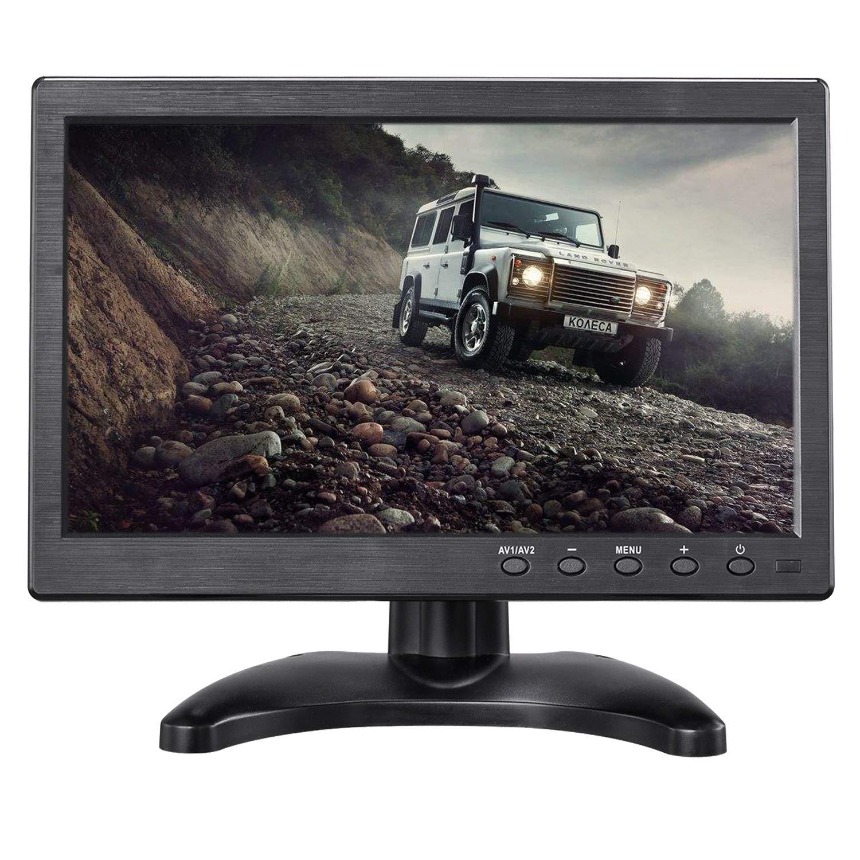 Uvusee 10,1 ЖК HD монитор и Компьютерный дисплей цветной экран 2CH видео вход камера безопасности монитор с BNC/AVI/VGA/HDMI